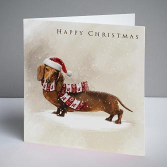 Dexter the Dog Christmas Cards, Pack of 10
