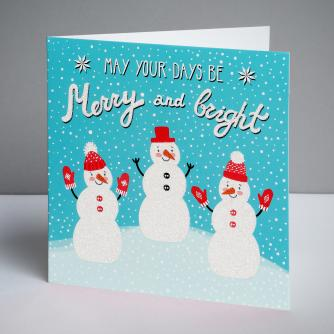 Happy Snowmen Christmas Cards, Pack of 10