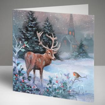 Monarch in Snow Christmas Cards, Pack of 10
