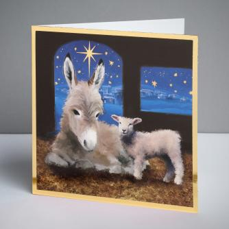 In the Manger Christmas Cards, Pack of 10