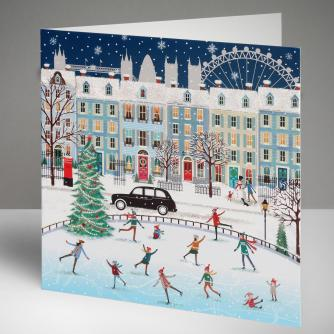 City Scene in Winter Christmas Cards, Pack of 10