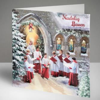 Christmas Service - Welsh Christmas Cards, Pack of 10