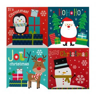 Mini Assorted Christmas Cards - Pack of 10
