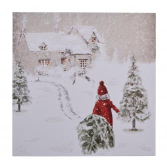 Taking The Tree Home Christmas Cards - Pack of 10