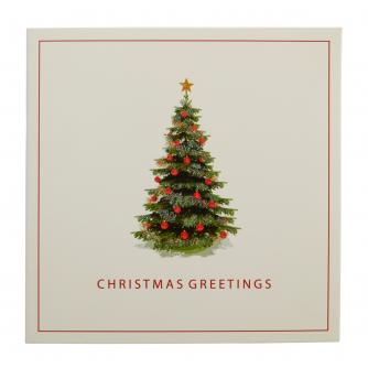 Traditional Christmas Tree Christmas Cards - Pack of 10