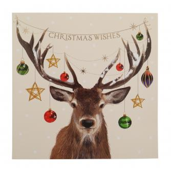 Spectacular Antlers Christmas Cards - Pack of 10