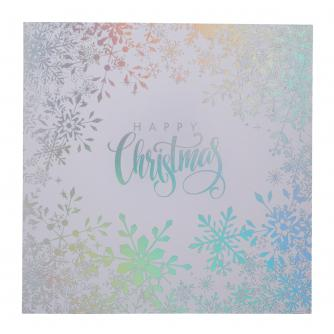 Stunning Silver Wishes Christmas Cards - Pack of 20
