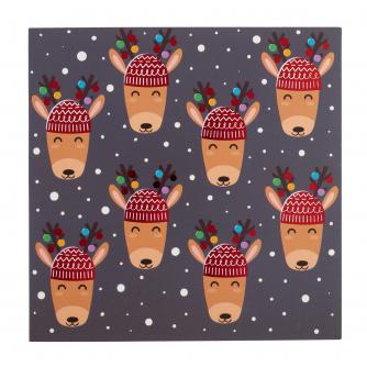 Mini Reindeer Christmas Cards - Pack of 20