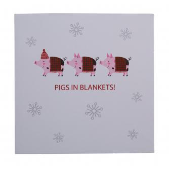 Pigs In Blankets Christmas Cards - Pack of 20