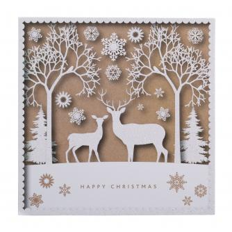 two sparkly reindeer christmas cards pack of 20 - Christmas Images For Cards