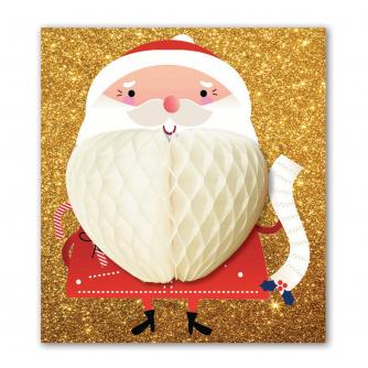 Pulp Pop Up Santa Christmas Card
