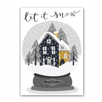 Holly Jolly Snow Globe Christmas Cards - Pack of 5