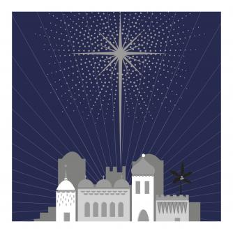Christmas Star Christmas Cards - Pack of 10