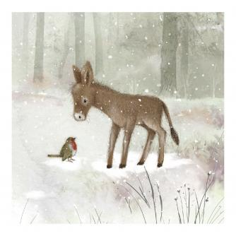 Little Donkey Christmas Cards - Pack of 10