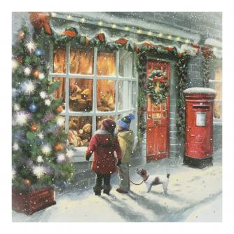 Window Shopping Christmas Cards - Pack of 10