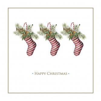 Winter Stocking Christmas Cards - Pack of 10