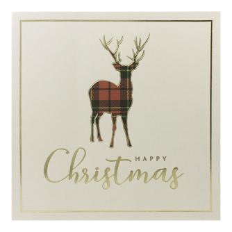 Tartan Monarch Christmas Cards - Pack of 10