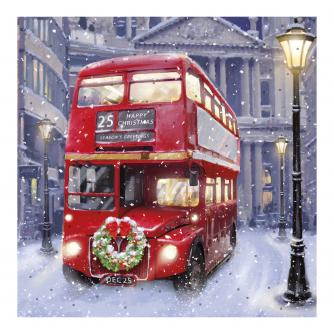 Bus In London Christmas Cards - Pack of 10