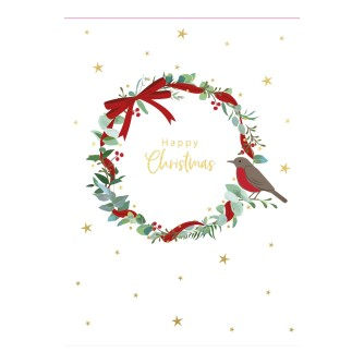Delicate Tree & Wreath Duo Christmas Cards - Pack of 16
