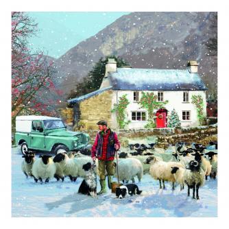 Festive Farmer Christmas Cards - Pack of 10