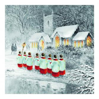 Sketched Choir Christmas Cards - Pack of 10