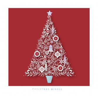 Ornamental Tree Christmas Cards - Pack of 20