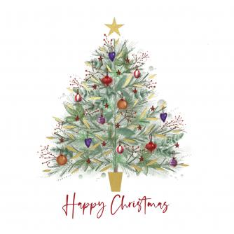 Shimmer Tree Christmas Cards - Pack of 20