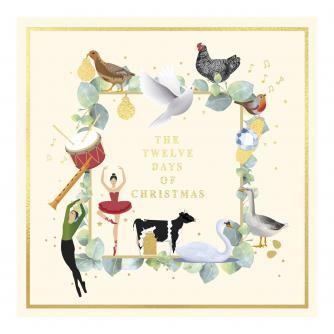 Twelve Days Frame Christmas Cards - Pack of 20