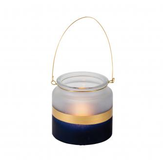 Gold Stripe Small Candle Holder