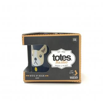 Totes Bulldog Mug & Sock Gift Set