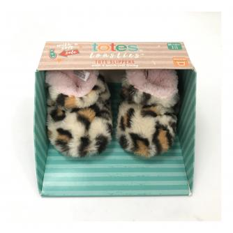 Totes Infants Padders Slippers - Leopard