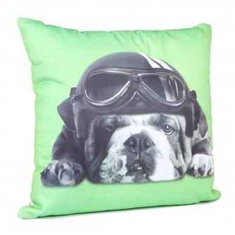 Captain Britain Bulldog Lime Cushion, Cancer Research UK