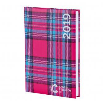 Pink Tartan Desk Diary