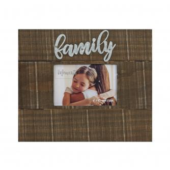 Family Moments 6x4 Wood Finish Photo Frame