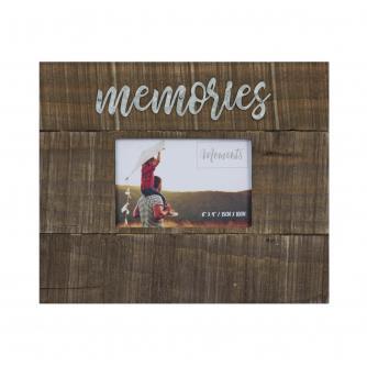 Memories 6x4 Wood Finish Photo Frame