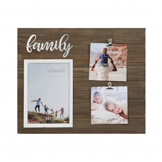 Family Moments Wood Finish Multi-Photo Frame