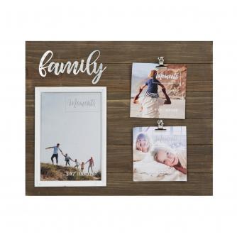 Family Moments Wood Finish Multi-Photo Frame