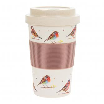 Country Life Birds Bamboo Travel Mug