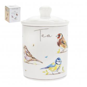 Country Life Birds Tea Canister