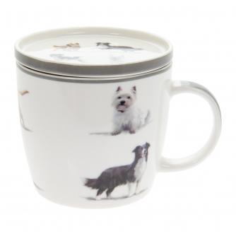 Dog Breeds Mug & Coaster Set