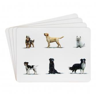 Dog Breeds Placemats - Set of 4