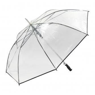 Clear Golf Umbrella with Black Trim
