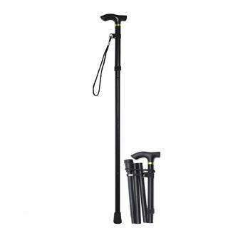 Folding Walking Stick - Black