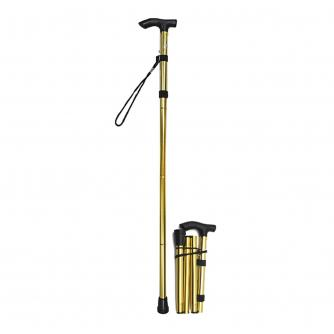 Folding Walking Stick - Metallic Gold