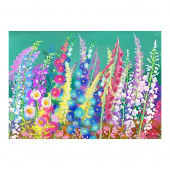 Bright Delphiniums Floral Jigsaw Puzzle