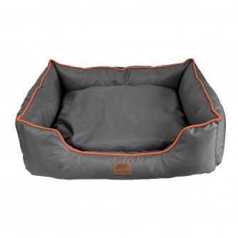 Edale Grey/Orange Water Resistant Pet Bed