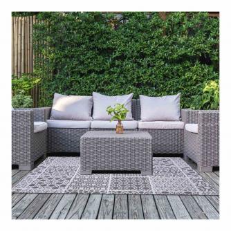Moroccan Floor Tile Design Outdoor Rug