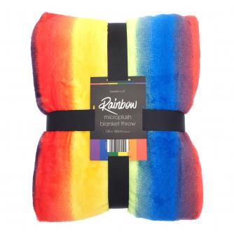 Rainbow Blanket Throw