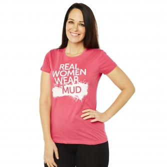 Race For Life  2017 Real Women Wear Mud T-Shirt Cancer Research UK