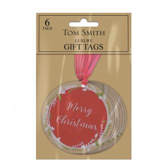Festive Kraft Design Gift Tags, Pack of 6